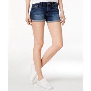 Joe's Jeans Blue Edlyn Rolled Denim Shorts
